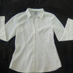 H&M Long Sleeve White Shirt